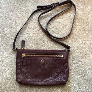 Cole Haan burgundy crossbody purse